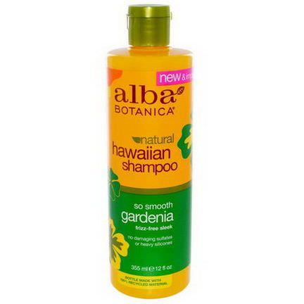 Alba Botanica, Natural Hawaiian Shampoo, So Smooth Gardenia 355ml