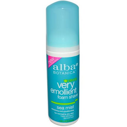 Alba Botanica, Natural, Very Emollient Foam Shave, Sea Mist 145ml