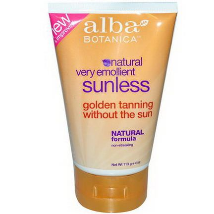 Alba Botanica, Natural Very Emollient, Sunless Tanning Lotion 113g