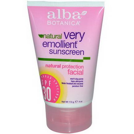 Alba Botanica, Natural Very Emollient Sunscreen, SPF 30 113g