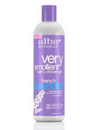 Alba Botanica, Very Emollient Bath&Shower Gel, French Lavender 355ml