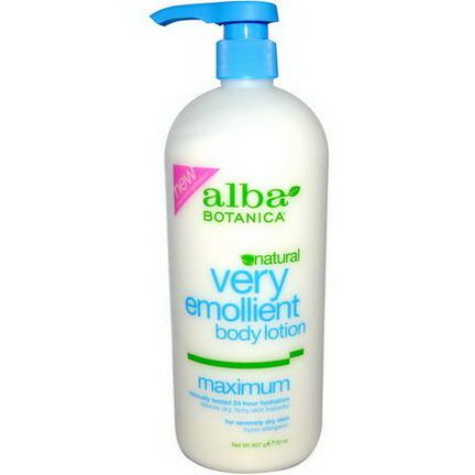 Alba Botanica, Very Emollient Body Lotion, Maximum 907g