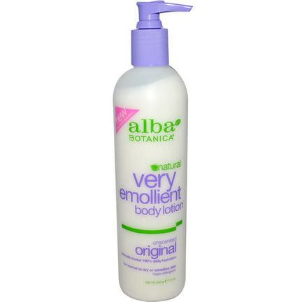 Alba Botanica, Very Emollient Body Lotion, Unscented Original 340g