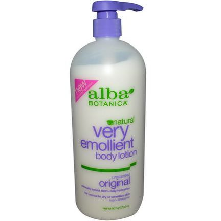 Alba Botanica, Very Emollient Body Lotion, Unscented, Original 907g