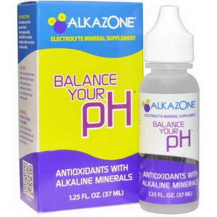Alkazone, Balance Your pH, Antioxidants with Alkaline Minerals 37ml
