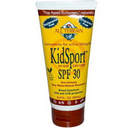 All Terrain, KidSport SPF 30, Fragrance Free 90ml