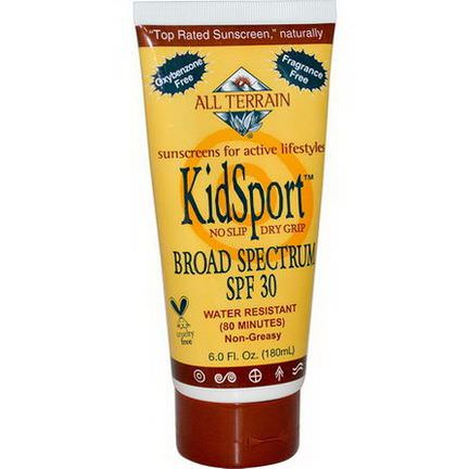 All Terrain, KidSport, Sunscreen, SPF 30, Fragrance Free 180ml