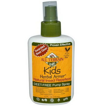 All Terrain, Kids Herbal Armor, Natural Insect Repellent 120ml