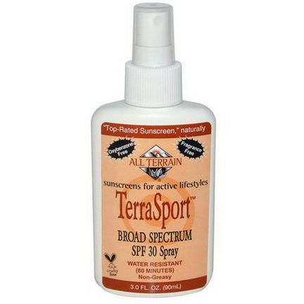 All Terrain, TerraSport, Sunscreen Broad Spectrum SPF 30 Spray 90ml