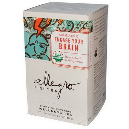 Allegro Fine Tea, Organic Engage Your Brain, 20 Tea Bags 40g