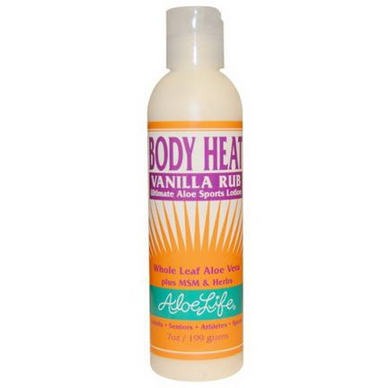 Aloe Life International, Inc, Body Heat Vanilla Rub 199g