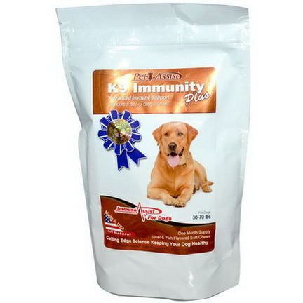 Aloha Medicinals Inc. K9 Immunity Plus, For Dogs, Liver&Fish Flavored Soft Chews, 60 Wafers