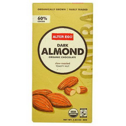 Alter Eco, Organic Chocolate, Dark Almond 80g