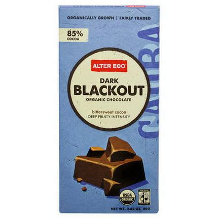 Alter Eco, Organic Chocolate, Dark Blackout 80g