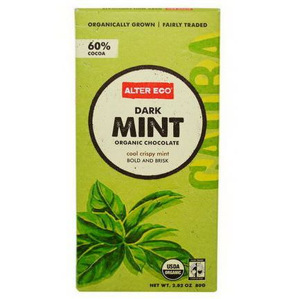 Alter Eco, Organic Chocolate, Dark Mint 80g