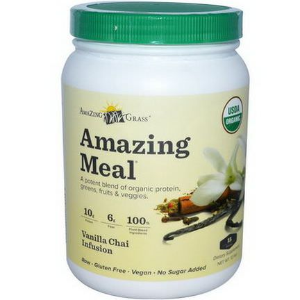Amazing Grass, Amazing Meal, Vanilla Chai Infusion, 12.4 oz