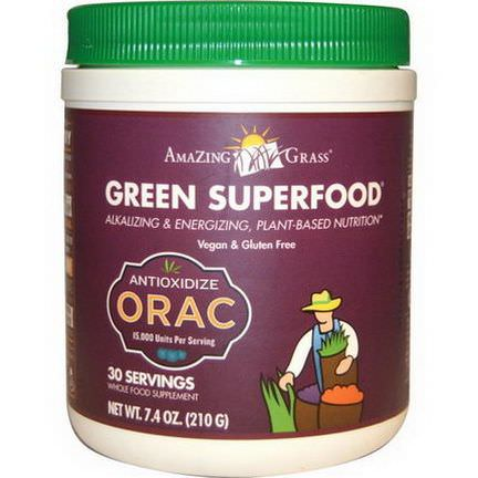 Amazing Grass, Green SuperFood, Tangy Berry Flavor 210g