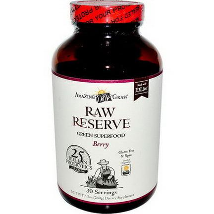 Amazing Grass, Raw Reserve, Green Superfood, Berry 240g
