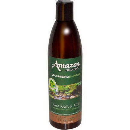Amazon Organics, Volumizing Shampoo, Kava Kava&Acai with Lavender&Lemongrass 360ml