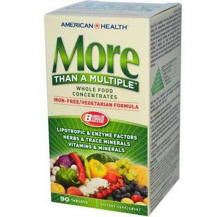 American Health, More Than A Multiple, Iron Free, 90 Tablets