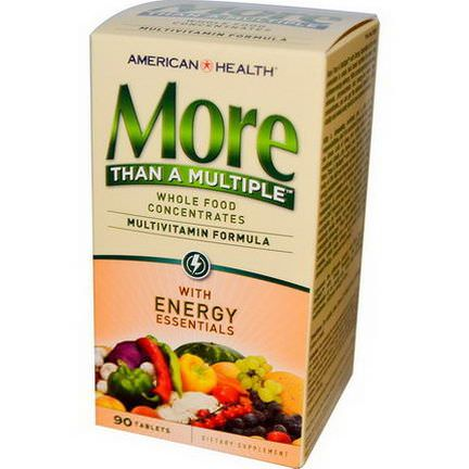 American Health, More Than A Multiple with Energy Essentials, 90 Tablets