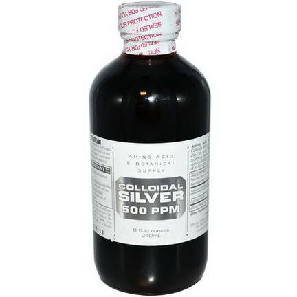 Amino Acid&Botanical Supply, Colloidal Silver, 500 ppm 240ml