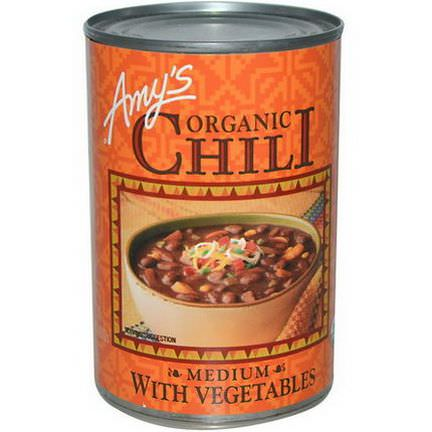 Amy's, Organic Chili, Medium with Vegetables 416g