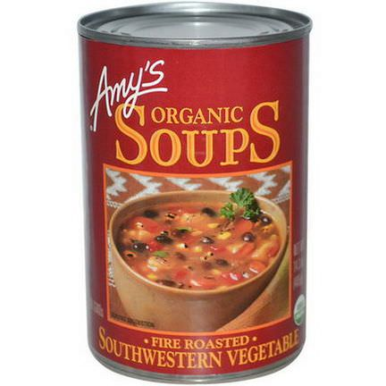 Amy's, Organic Soups, Fire Roasted, Southwestern Vegetable 405g