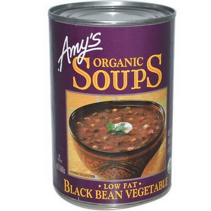 Amy's, Organic Soups, Low Fat Black Bean Vegetable 411g