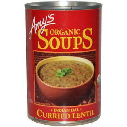 Amy's, Soups, Curried Lentil, Indian Dal 411g
