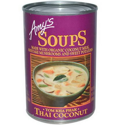 Amy's, Soups, Tom Kha Phak, Thai Coconut 400g