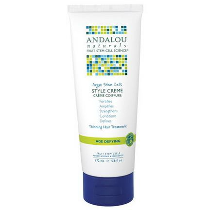 Andalou Naturals, Argan Stem Cells Style Creme, Thinning Hair Treatment 172ml