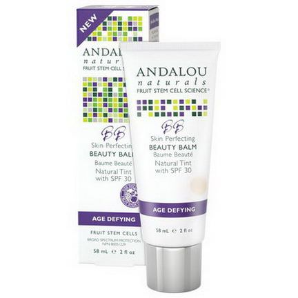 Andalou Naturals, BB Skin Perfecting Beauty Balm, Natural Tint with SPF 30, Age Defying 58ml