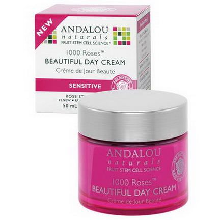 Andalou Naturals, 1000 Roses Beautiful Day Cream, Sensitive 50ml
