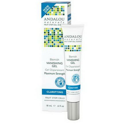 Andalou Naturals, Blemish Vanishing Gel, Maximum Strength, Clarifying 18ml
