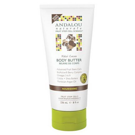 Andalou Naturals, Body Butter, Kukui Cocoa, Nourishing 236ml