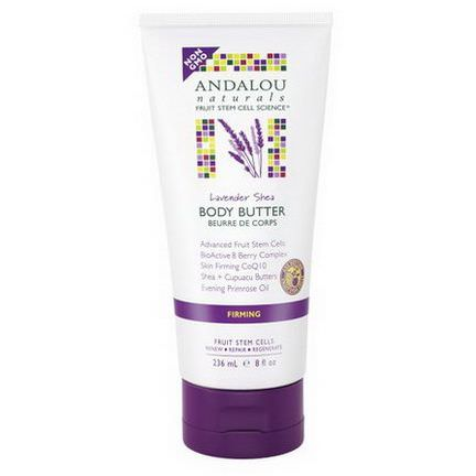 Andalou Naturals, Body Butter, Lavender Shea, Firming 236ml