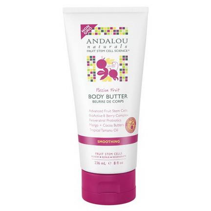Andalou Naturals, Body Butter, Passion Fruit, Smoothing 236ml