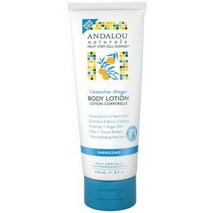 Andalou Naturals, Body Lotion, Clementine Ginger, Energizing 236ml