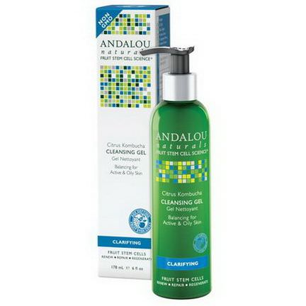 Andalou Naturals, Cleansing Gel, Citrus Kombucha, Clarifying 178ml