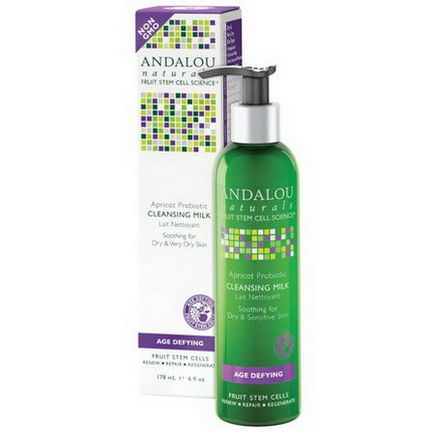 Andalou Naturals, Cleansing Milk, Apricot Probiotic, Age Defying 178ml