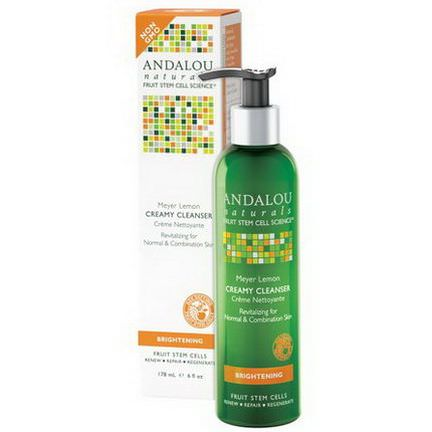Andalou Naturals, Creamy Cleanser, Meyer Lemon, Brightening 178ml