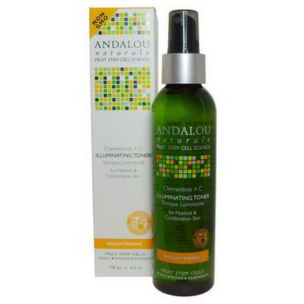 Andalou Naturals, Illuminating Toner, Clementine C, Brightening 178ml