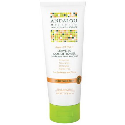 Andalou Naturals, Leave-In Conditioner, Argan Oil Plus +, Moisture Rich 200ml