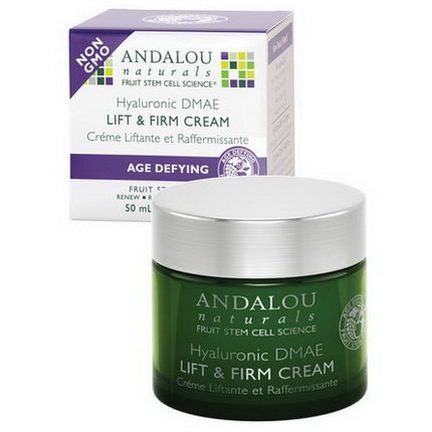 Andalou Naturals, Lift&Firm Cream, Hyaluronic DMAE 50ml