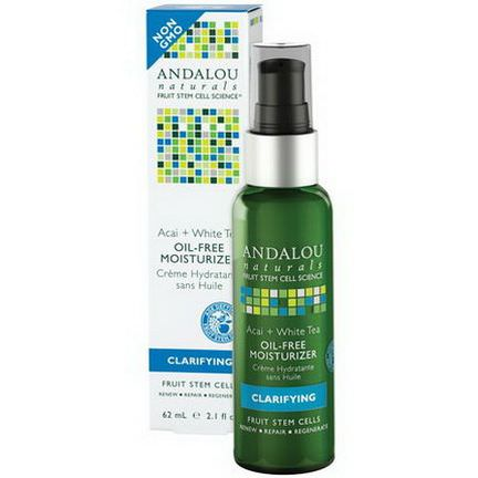 Andalou Naturals, Oil-Free Moisturizer, Acai White Tea, Clarifying 62ml