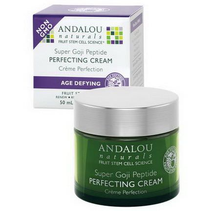Andalou Naturals, Perfecting Cream, Super Goji Peptide, Age Defying 50ml