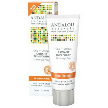 Andalou Naturals, Radiant Skin Polish, Chia Omega, Brightening 58ml