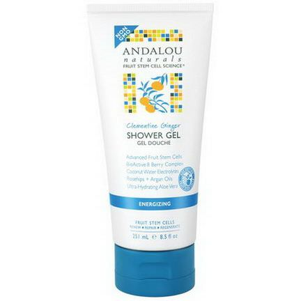 Andalou Naturals, Shower Gel, Clementine Ginger, Energizing 251ml