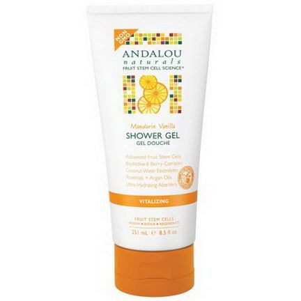 Andalou Naturals, Shower Gel, Mandarin Vanilla, Vitalizing 251ml
